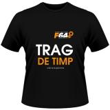 Tricou negru - Trag de Timp - S